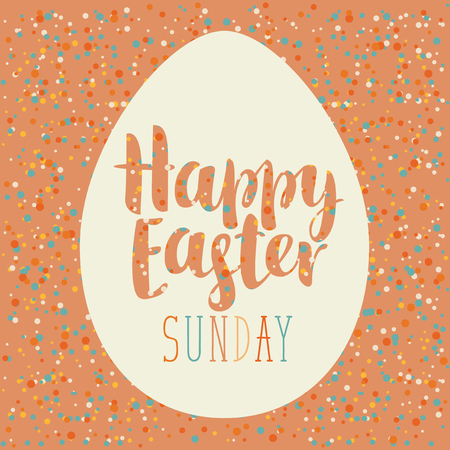 ostern: vector greeting card with Easter egg, cut from paper Illustration