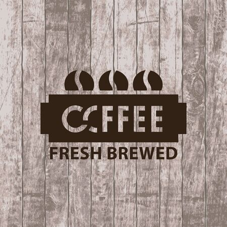 coffee beans: Banner with three coffee grains. Illustration