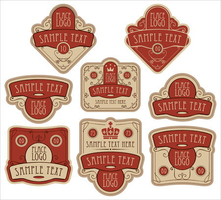 royal: set of vector ornate labels templates in baroque style