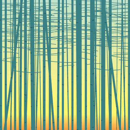 copse: Seamless vector texture with a picture of the forest of trees against the sky.