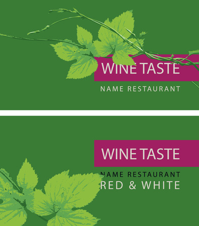 Vector set of two business cards for a store or restaurant