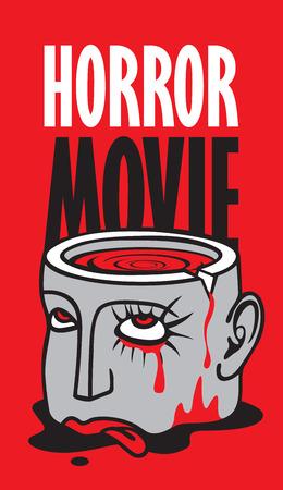 Banner for festival horror movie.