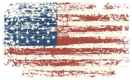Vector grunge texture flag of United States America 免版税图像 - 93380786