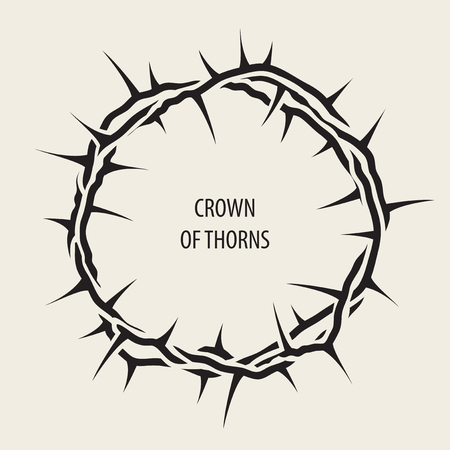 Vector Easter banner with black crown of thorns and words
