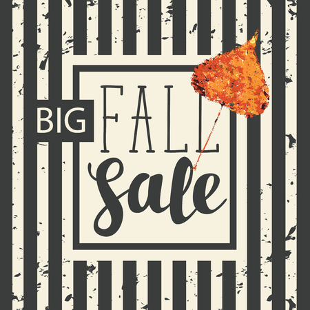 Vector Banner With Words Big Fall Sale Can Be Used For Flyers