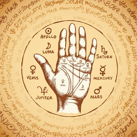 Ancient hieroglyphs, medieval runes, spiritual symbols. Ilustracja
