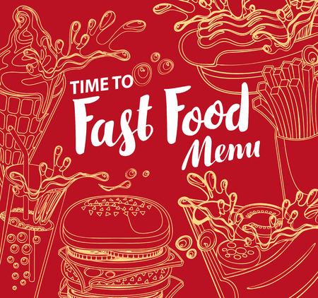 Couverture pour le menu de restauration rapide
