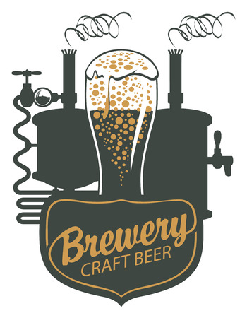 Banner for craft beer and brewery, with a calligraphic inscription