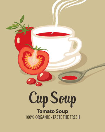 Banner for tomato soup. Çizim