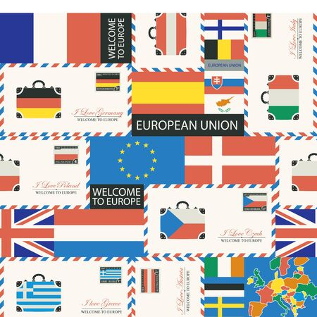 Theme of travel to countries of Euro union.