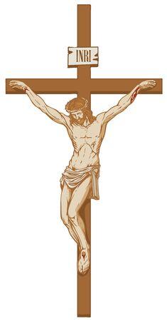 Vector  of the religious symbol crucifixion.