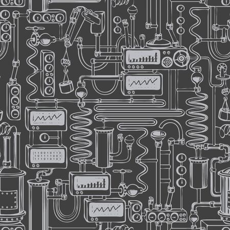 Seamless pattern on industrial theme  イラスト・ベクター素材