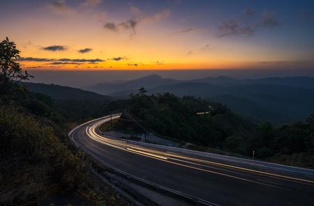 Sunrise at Doi Intanon vIew point, Chiangmai Thailand Stock Photo