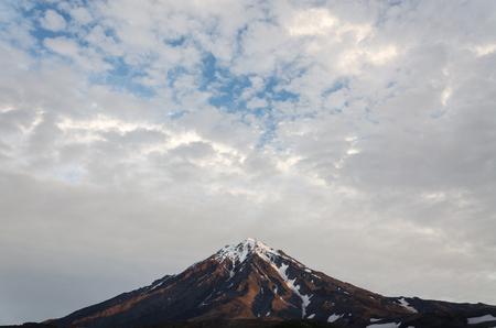 vulcanology: Koryaksky volcano in Kamchatka Russia