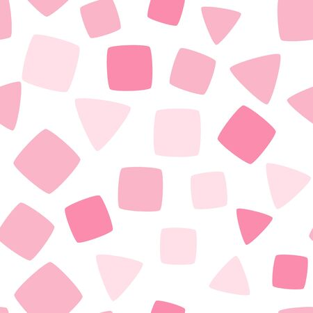 rounded squares: Seamless pattern with rounded squares and triangles. Vector repeating texture. Illustration