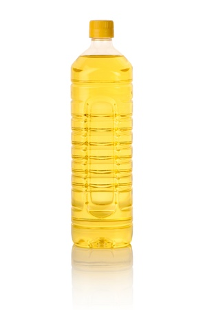 cooking oil bottle isolated on white Stock Photo