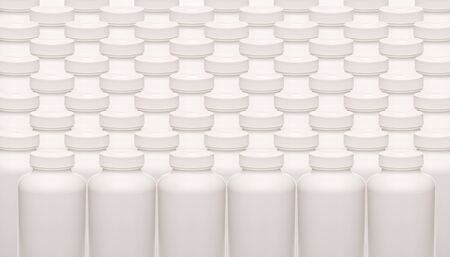 background of white pills containers photo
