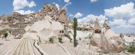dwellings: ancient stone dwellings in Cappadocia