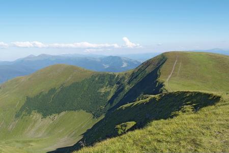 mountain scenery in Carpathians Stock Photo