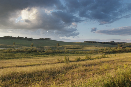 summer evening in the foothills of the Urals