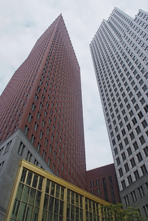 modern skyscrapers in Hague Netherlands