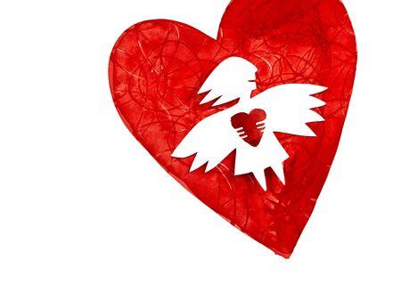 Angel de amor con coraz�n  Foto de archivo - 6406921