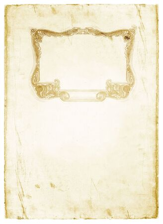 ornated: Decorated grunge old paper