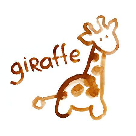 perceptie: Giraffe cijfer aangepast voor het kind perceptie Stockfoto