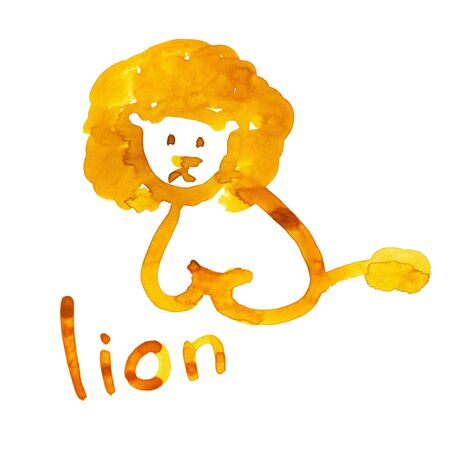 Lion figure adapted for the childs perception photo