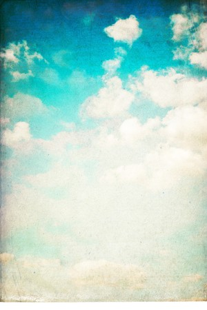 moody sky: Vintage vertical sky background isolated on white.
