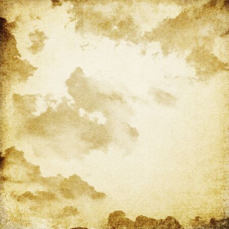 Cloudy sky. Photo in vintage image style. photo
