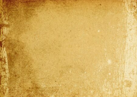 surface aged: Vintage brown stained background (A4 format, horizontal orientation). Stock Photo
