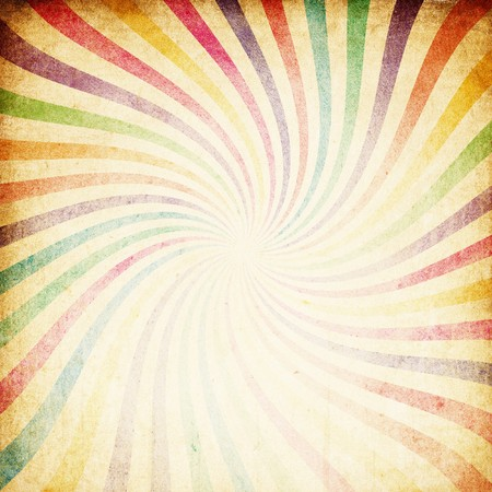 radial: Retro colorful sunburst background.