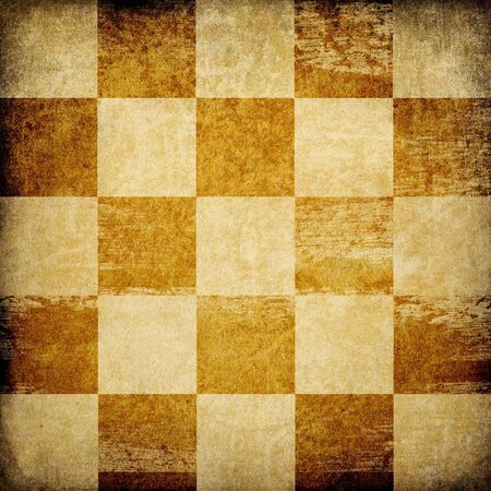 Grungy chessboard stained background. Stock Photo - 7095197