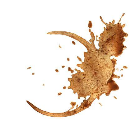 manchas de cafe: Anillos de la taza de caf� aislados en un fondo blanco.