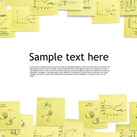 post it note: Seamless wallpaper: business and finance giagram and analyzing on white background Stock Photo