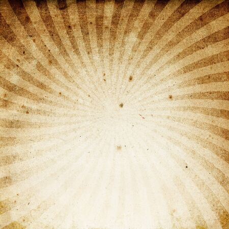 Old grunge vintage textured paper with rays image. photo