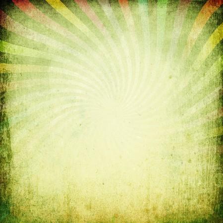 Grungy vintage sunburst background. Stock Photo - 7141325