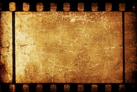 Vintage grunge 35mm filmstrip retro background. photo