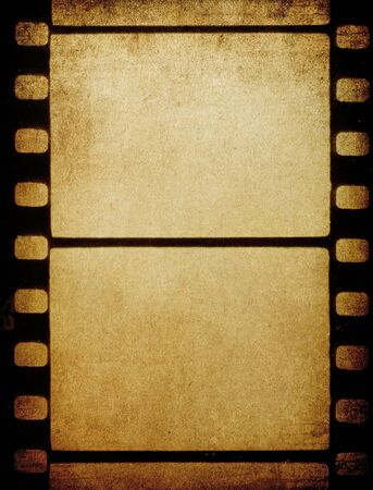 photographic film: Grunge vintage 35 mm film background with space for text.