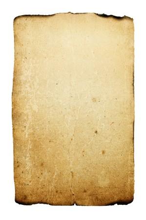 papier brul�: Mill�sime br�l�e arri�re-plan de papier  Banque d'images