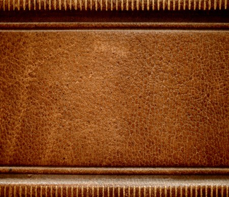 Antique leather book spine cover.  photo
