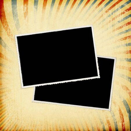 Grunge retro photoframe background Stock Photo - 7141359
