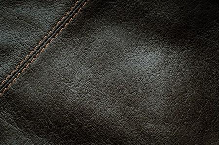 horisontal: Seam on the black leather (horisontal orientation)