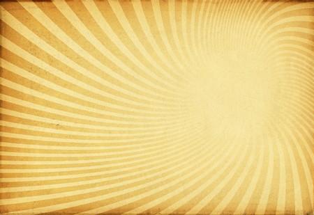 siebziger jahre: Sunburst retro Textur auf alte Papier.