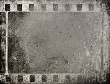 photography backdrop: Grungy Film Frame - background with space for text Stock Photo