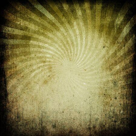 Grunge aged sunburst image on old paper. Background for design works. Stock Photo - 7283207