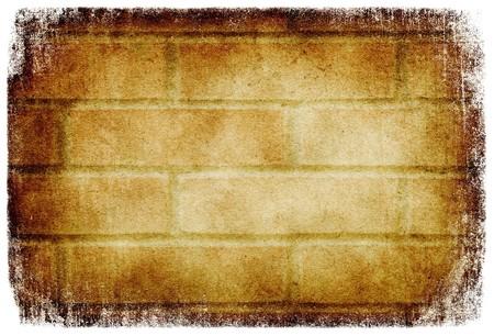 Grunge brick wall background, isolated on white. Stock Photo - 7316862