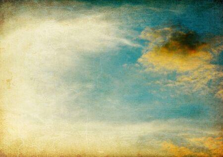 manuscripts: Vintage sky image background.