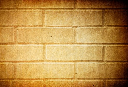 Grunge brick wall background, isolated on white. Stock Photo - 7343536